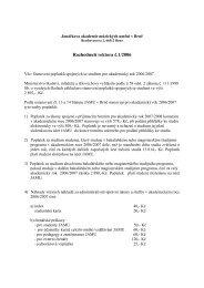 Rozhodnutí rektora č - Janáčkova akademie múzických umění v Brně