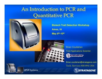 An Introduction to PCR and Quantitative PCR