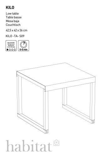 Drio Table Table Mesa Tisch - Habitat