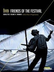 Friends newsletter. - New Zealand International Arts Festival - 2012