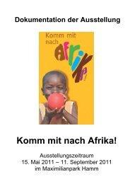 "Dokumentation: ""Komm mit nach Afrika"" - FUgE Hamm"