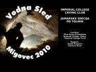imperial college caving club jamarska sekcija pd tolmin