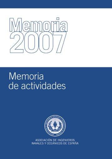 Memoria Actividades AINE 2007 - Colegio Oficial de Ingenieros ...