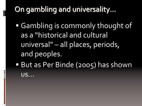 Nevada, Las Vegas - European Association for the Study of Gambling