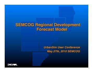 Modeling for SE Michigan - UrbanSim
