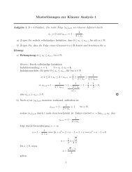 Musterlösungen zur Klausur Analysis 1