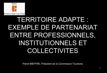 TERRITOIRE ADAPTE TERRITOIRE ADAPTE ... - Atout France