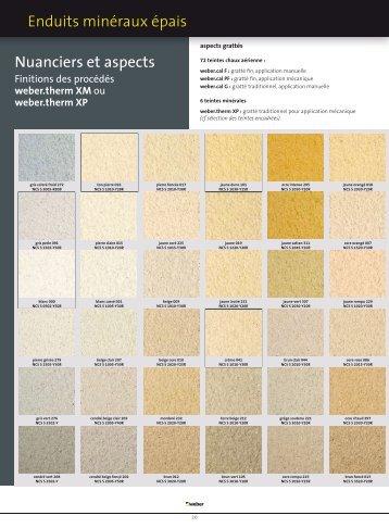 enduits minces organiques r p e nuanciers et aspects weber. Black Bedroom Furniture Sets. Home Design Ideas