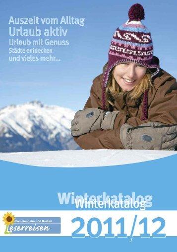 Winterkatalog - Leserreisen von Familienheim und Garten