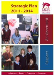 Strategic Plan (2011-2014) - Drouin Secondary College