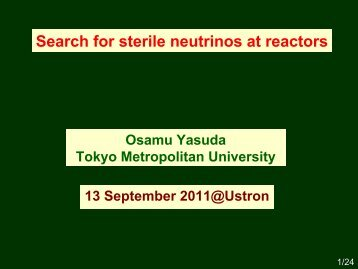 Search for sterile neutrinos at reactors.