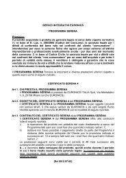 (Ed 2012.07.02) SERVIZI INTEGRATIVI EURONICS PROGRAMMA ...