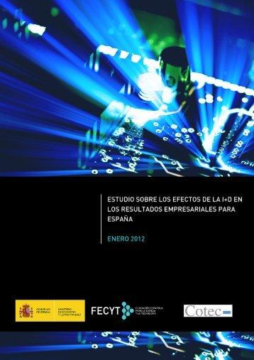 Efectos de la I+D en los resultados empresariales para ... - ICONO