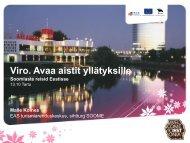 Malle Kolnes, EASi Turismiarenduskeskus - Lõuna-Eesti