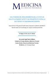Valutazione del miglioramento dello stato di salute in pazienti affetti ...
