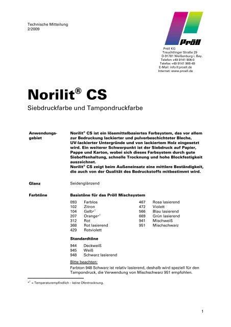 Norilit® CS - Pröll KG