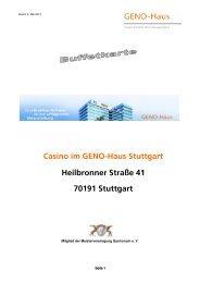unserer Speisekarte - GENO-Haus Stuttgart