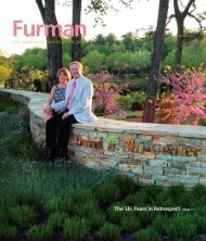 The Shi Years in Retrospect PAGE 12 - Furman University