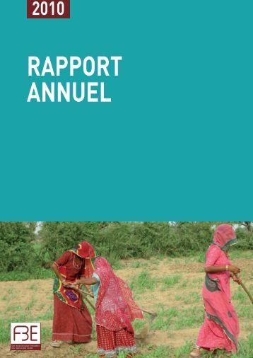 Rapport annuel 2010 (PDF - 64 p. - 2,4 Mo) - F3E