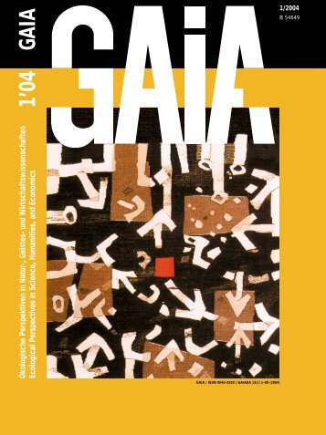 GAIA, 01/2004 - WissenschaftsZentrum Umwelt - Universität Augsburg