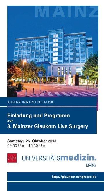 Tagungsprogramm - Congress-Organisation Gerling GmbH