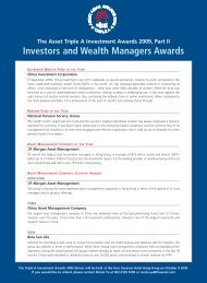 Investors and Wealth Managers Awards - The Asset