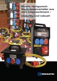 Mobile Hartgummi- Steckdosenverteiler aus ... - GIFAS Electric GmbH