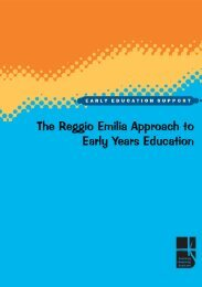 The Reggio Emilia Approach to Early Years - Education Scotland
