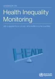 Health Inequality Monitoring - Extranet Systems - World Health ...