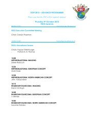 ADVANCE PROGRAMME Thursday 4th October 2012 PROS Sessions