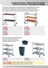 Carrelli di servizio inox - Stainless steel service trolleys ... - Forcar