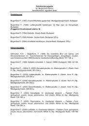 Publikációs jegyzék - Kaposvári Egyetem Állattudományi Kar