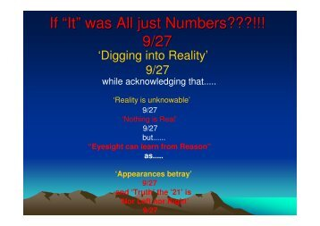 """If """"It"""" was All just Numbers???!!! 9/27 - Global Commons Institute"""