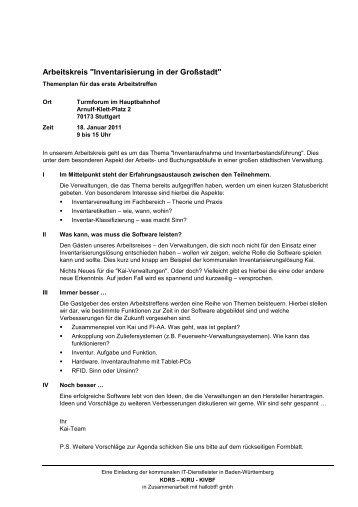 """Arbeitskreis """"Inventarisierung in der Großstadt"""" - hallobtf!"""