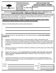 application for encroachment permit - City of Moreno Valley