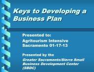 Keys to Writing a Business Plan - University of California Small Farm ...