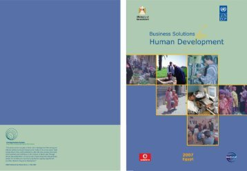 Business Solutions for Human Development Report - UNDP in Egypt
