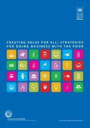 Creating Value for All - Growing Inclusive Markets