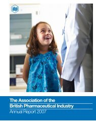 2007 ABPI Annual Report (PDF, 1.7MB) - Association of the British ...