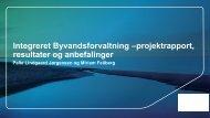 VIB projektrapport og ppt - Vand i Byer