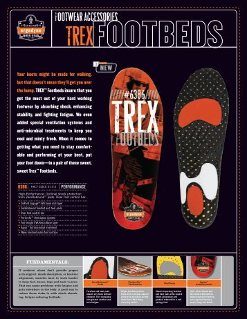 Trex™ Footbed Product Flyer - Ergodyne
