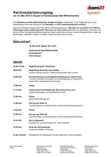 Kai-Inventarisierungstag-Agenda Kassel - hallobtf!