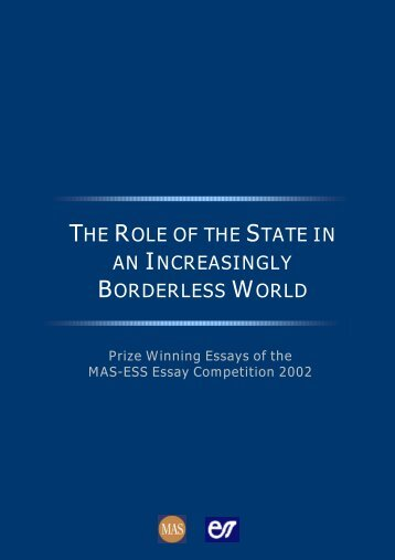 the role of the state in an increasingly borderless world - Economic ...