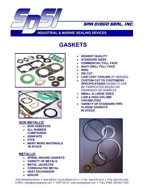 GASKETS - San Diego Seal, Inc