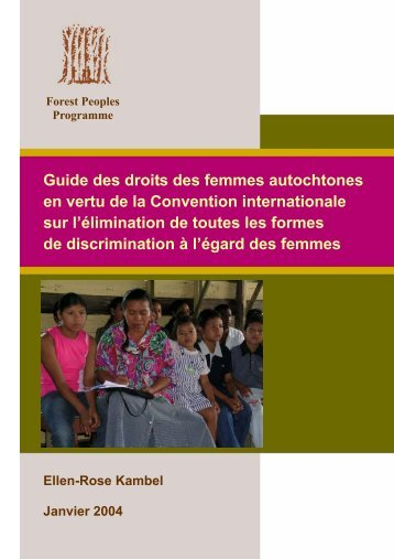 Guide des droits des femmes autochtones en vertu de la Convention ...