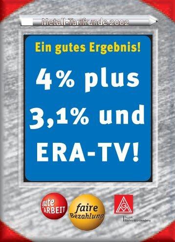 Faltblatt zum Tarifabschluss 2002 Metallindustrie - IG Metall Baden ...