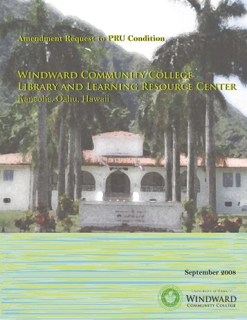 Plan Review Use Permit - Windward Community College Library ...