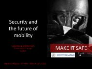 MAKE IT SAFE Security and the future of mobility - CFIR