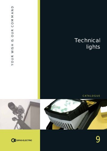 Technical lights - GIFAS Electric GmbH