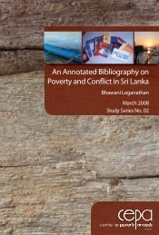 an annotated bibliography on poverty and conflict in sri lanka - CEPA